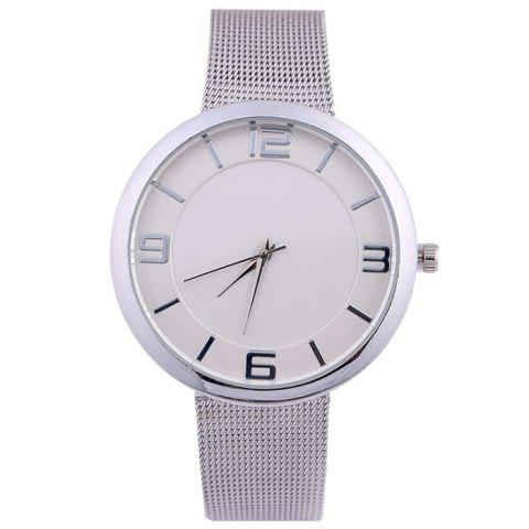 Buy Mesh Alloy Band Number Analog Watch SILVER