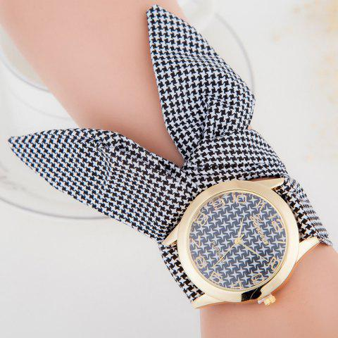 Outfit Ribbon Strap Quartz Bracelet Watch - GRAY  Mobile