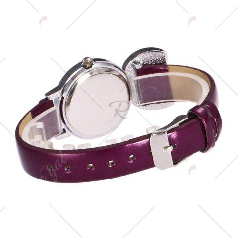 Outfits Rabbit Ears Faux Leather Strap Watch - PURPLE  Mobile