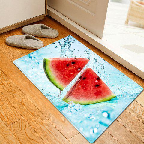 Fancy Cool Watermelon Pattern Anti-skid Water Absorption Area Rug - W16 INCH * L24 INCH CLOUDY Mobile