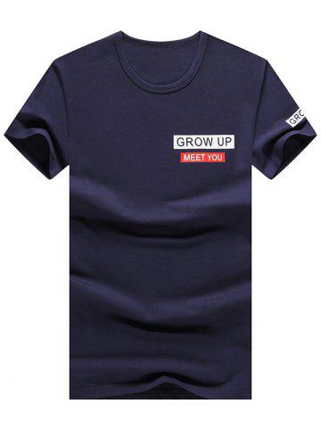New Short Sleeve Grow Up Print Graphic Tee - L ROYAL Mobile