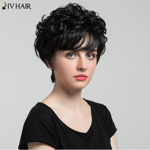 Siv Hair Short Oblique Bang Shaggy Curly Layered Hair Hair Wig