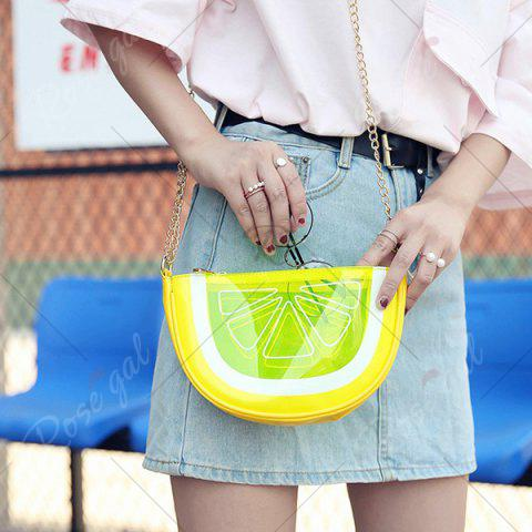 Latest Transparent Fruit Crossbody Bag - YELLOW  Mobile