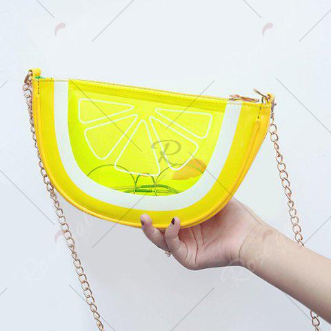 Fancy Transparent Fruit Crossbody Bag - YELLOW  Mobile