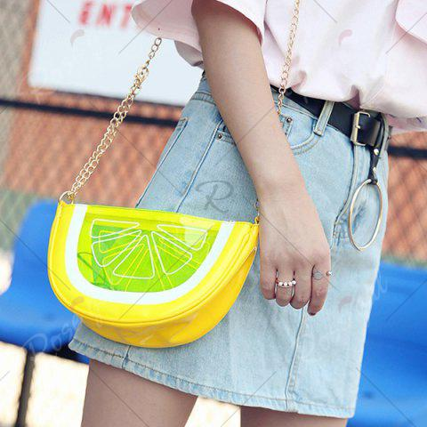 Outfits Transparent Fruit Crossbody Bag - YELLOW  Mobile