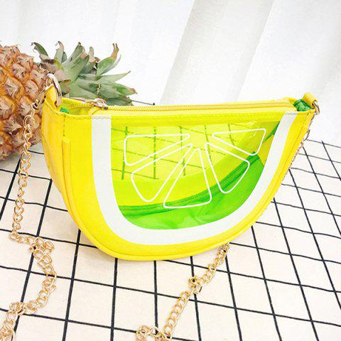 Chic Transparent Fruit Crossbody Bag - YELLOW  Mobile