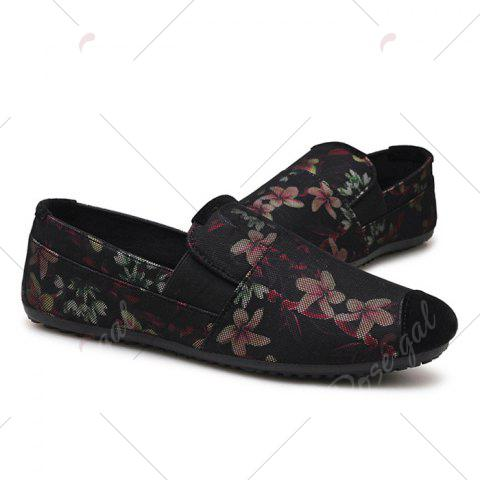 Store Floral Print Cap Toe Slip On Sneakers - 43 RED Mobile