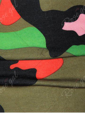 Affordable Colorful Short Sleeve Camouflage Tee - XL GREEN Mobile