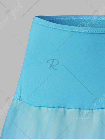 Latest Plus Size Cosplay Light Up Party Skirt - LIGHT BLUE 6XL Mobile