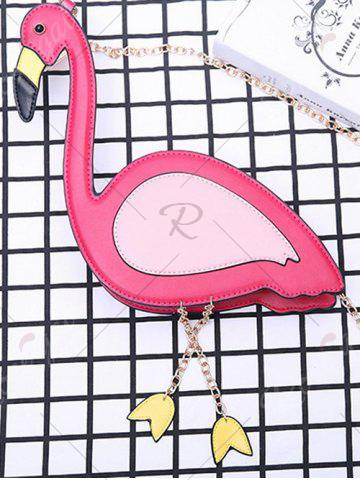 Online Flamingo Shaped Chain Crossbody Bag - ROSE RED  Mobile