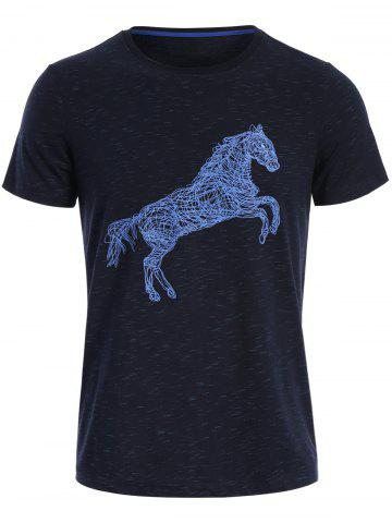 Hot Animal Horse Print Short Sleeve T-shirt
