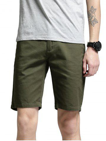 Chic Zip Fly Men Shorts GREEN 34