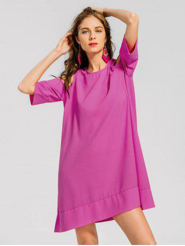 Cold Shoulder Casual Tee Dress