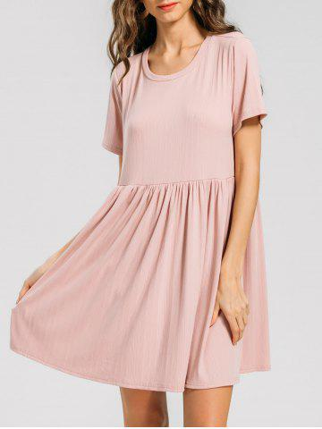 Ruffled Seam Knitting Mini Dress