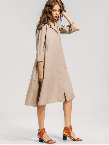 Button Up Casual Shirt Dress