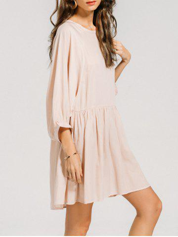 Outfits Batwing Sleeve Ruffled Seam Mini Dress