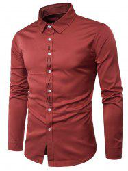 Long Sleeve Graphic Print Placket Shirt