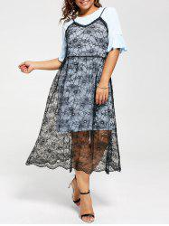 Long Tee and Plus Size Lace Slip Dress