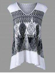 Cap Sleeve Monochrome Top
