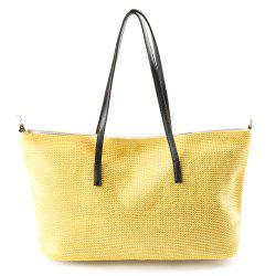 Straw Weave Shopper Bag