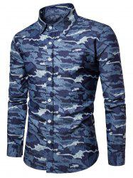 Long Sleeve Camouflage Denim Shirt