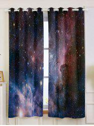2 Panels Universe Space Blackout Window Curtains