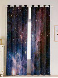 2 Panels Universe Space Blackout Window Curtains -