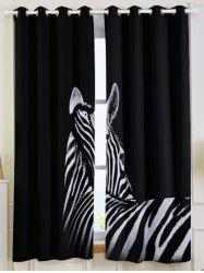 2 Panel Thermal Insulated Zebra Window Blackout Curtain -