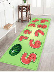 Watermelon Number Pattern Anti-skid Water Absorption Area Rug