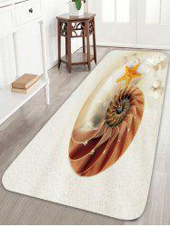 Slip Resistant Beach Shell Snail Bathroom Rug