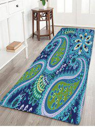 Bohemian Flower Print Flannel Bathroom Rug