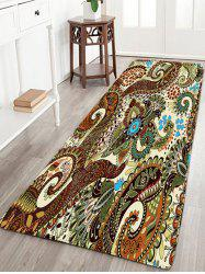 Bohemian Flower Bathroom Antiskid Flannel Rug - W16 Inch * L47 Inch