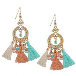 Vintage Tassel Beaded Chandelier Earrings