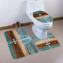 Décor de salle de bain 3Pcs / Set Vintage Anchor Mats - Multicolore