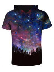 3D Starry Sky Print Galaxy Hooded Top