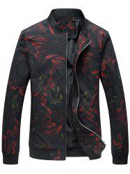 Cock Print Zip Up Jacket