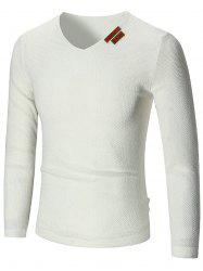 See Through V Neck Sweater