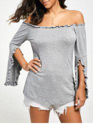 Bell Sleeve Off The Shoulder T-Shirt