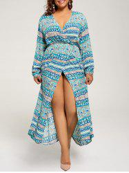 Long Sleeve Plus Size Maxi Bohemian Dress