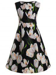 Tulip Flower Plus Size Vintage Ball Dress