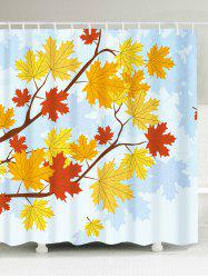 Bathroom Product Maple Leaf Print Waterproof Shower Curtain - COLORFUL W71 INCH * L71 INCH