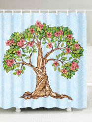 Tree of Life Floral Waterproof Shower Curtain - LIGHT BLUE W59 INCH * L71 INCH