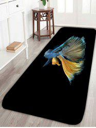 Tapis de surface d'impression de poisson Betta antidérapant - Noir