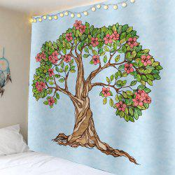 Tree of Life Floral Waterproof Wall Art Tapestry -