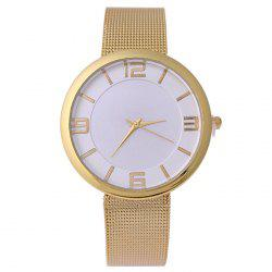 Mesh Alloy Band Number Analog Watch -
