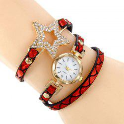 Star Charm Rhinestone Bracelet Watch