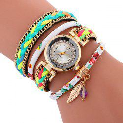 Chain Braided Layered Charm Bracelet Watch