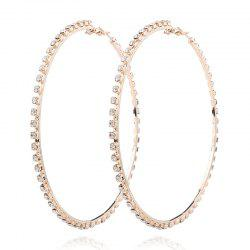 Rhinestone Statement Circle Hoop Earrings