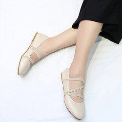 Round Toe Elastic Band Flat Shoes