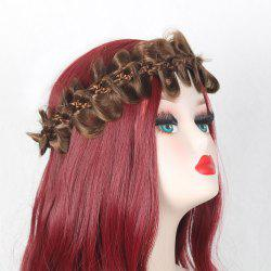 Long Bowknot Colormix Braided Headband